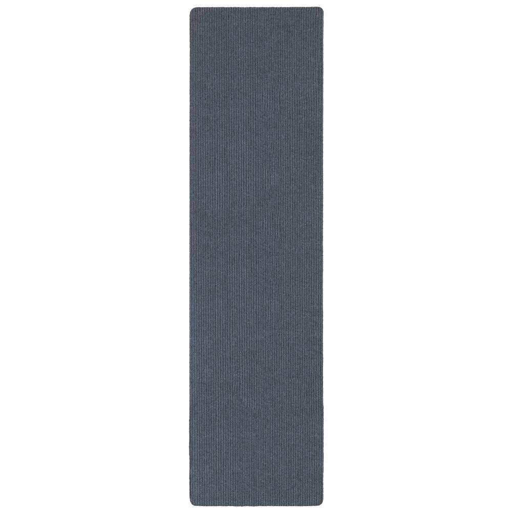 Ottomanson Lifesaver Collection Light Gray 2 ft. 7 in x 9 ft. 10 in. Utility Ribbed Indoor/Outdoor Runner Rug