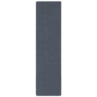 Lifesaver Collection Light Gray 2 ft. 7 in x 9 ft. 10 in. Utility Ribbed Indoor/Outdoor Runner Rug