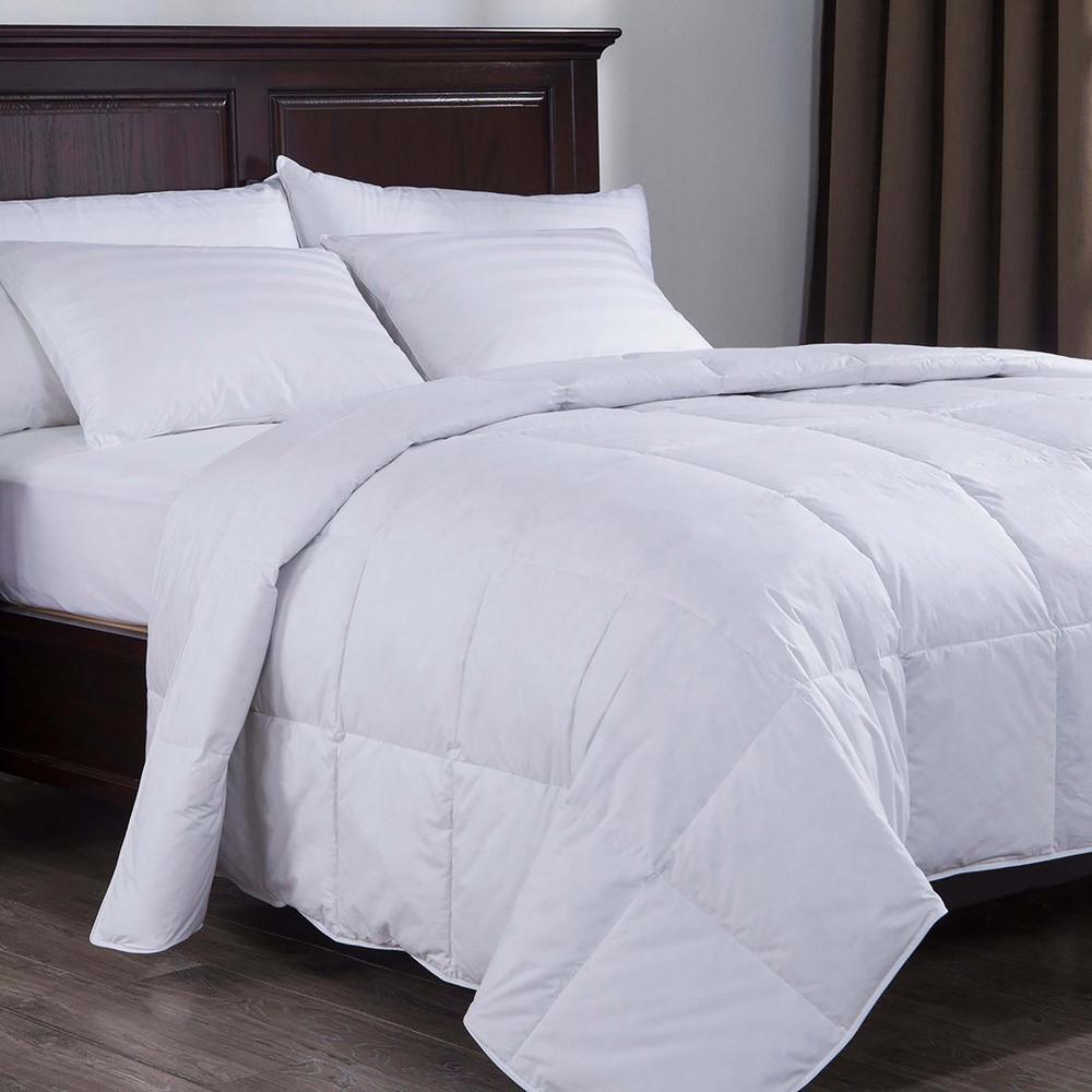 Lightweight Down Comforter Full Queen In White