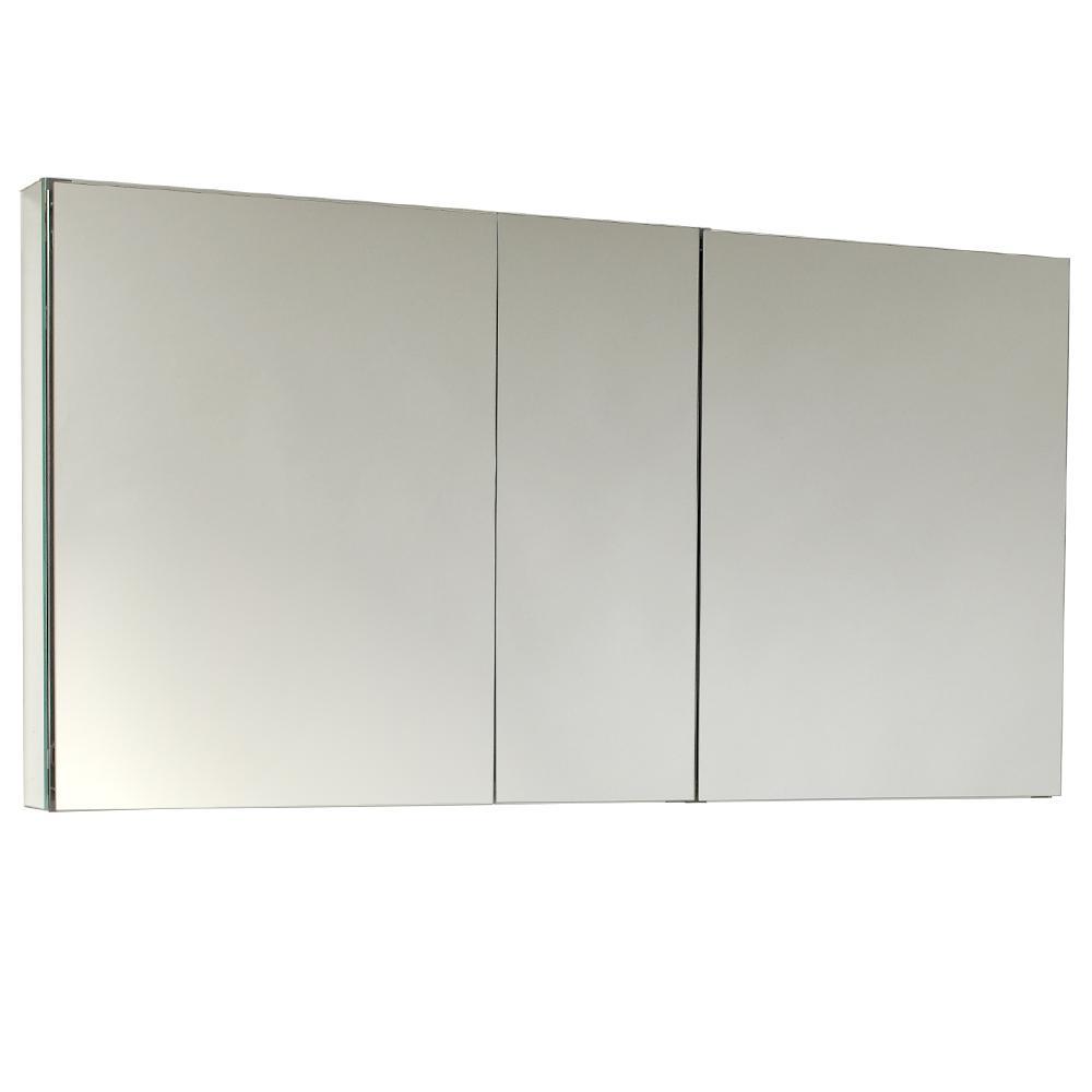 fresca 49 in w x 26 in h x 5 in d frameless - Medicine Cabinet Home Depot