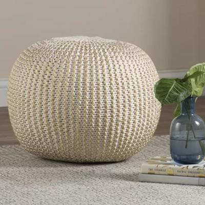 Bone and Gold Indoor Ottoman