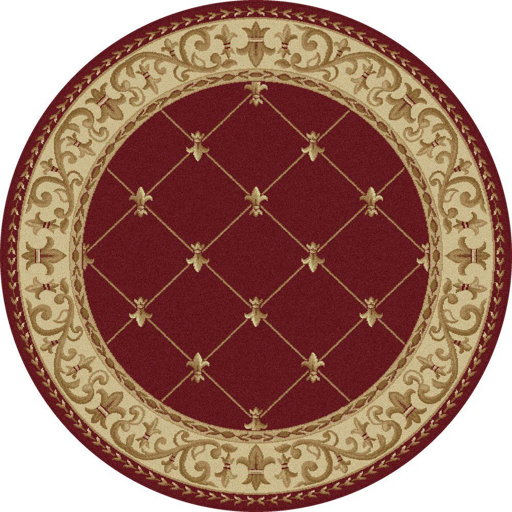 10 Round Area Rug Tayse Rugs Sensation Red In X In Round