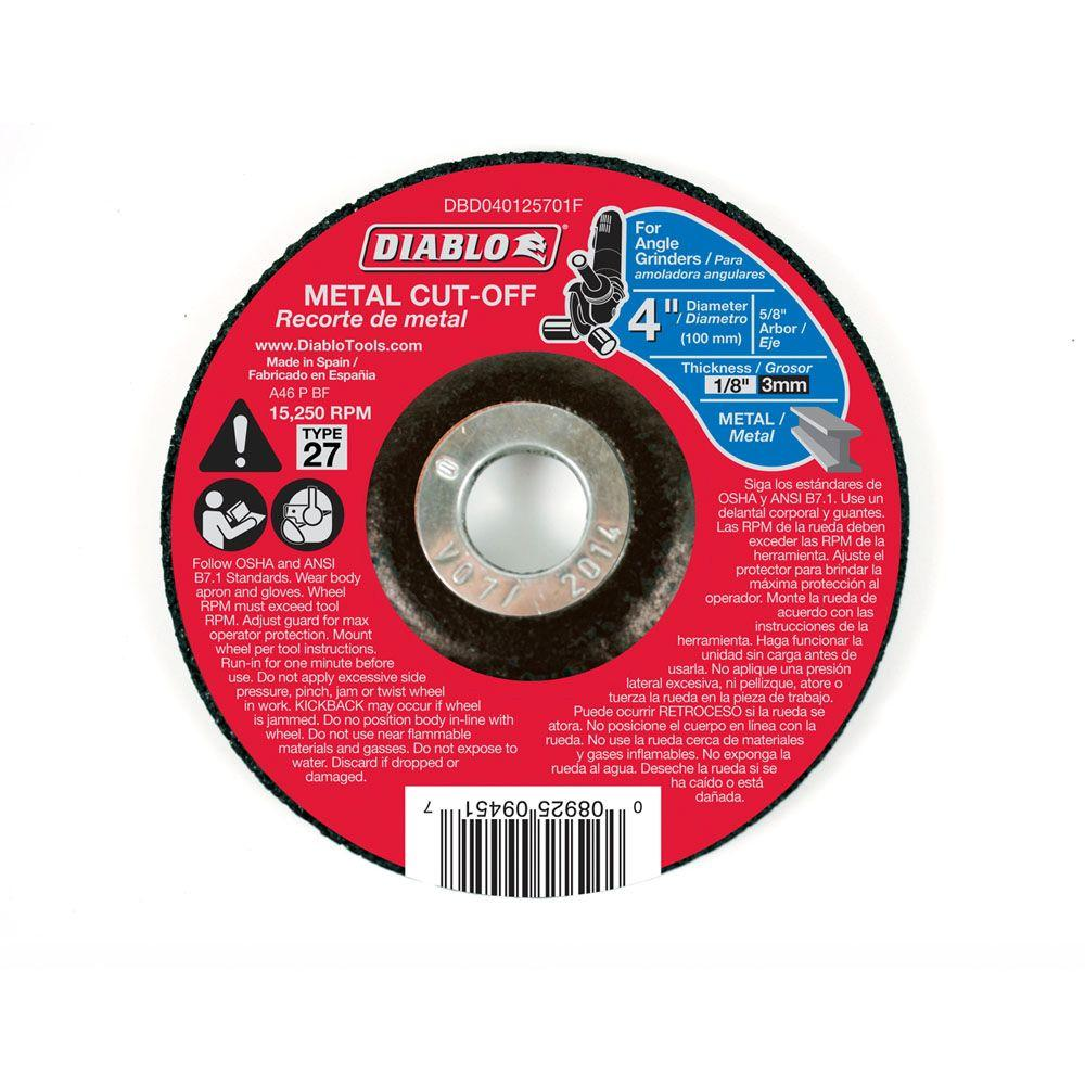 4 in. x 1/8 in. x 5/8 in. Metal Cut-Off Disc