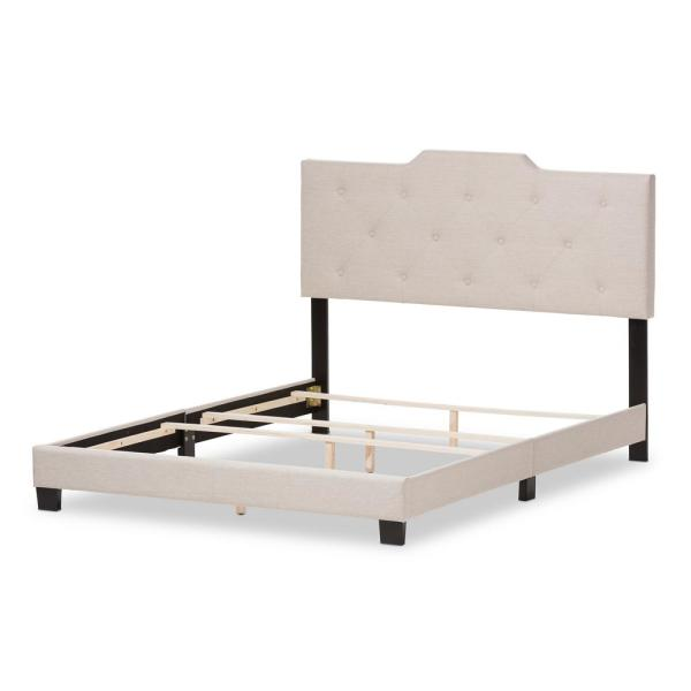 Baxton Studio Brunswick Beige Fabric Upholstered Full Bed 28862-7466-HD