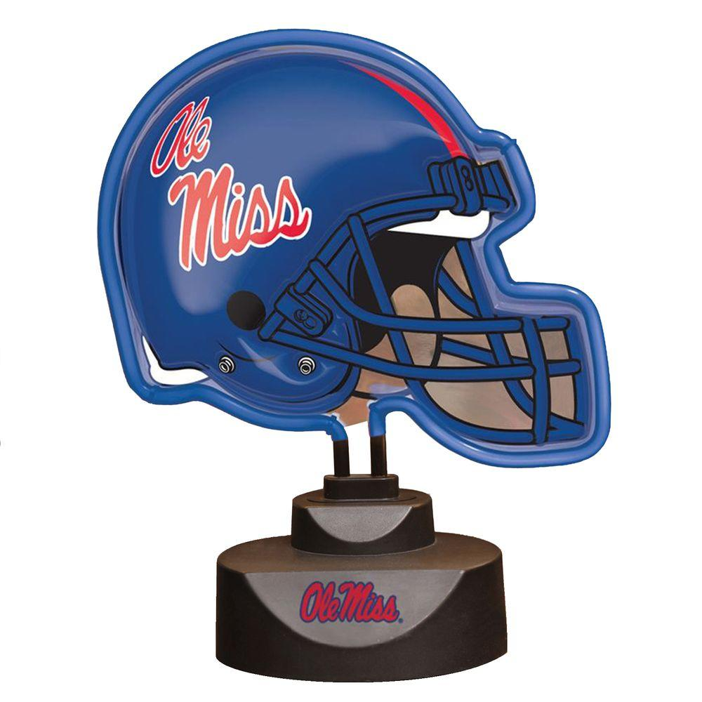 The Memory Company NCAA Neon Helmet Lamp - Mississippi Rebels-DISCONTINUED
