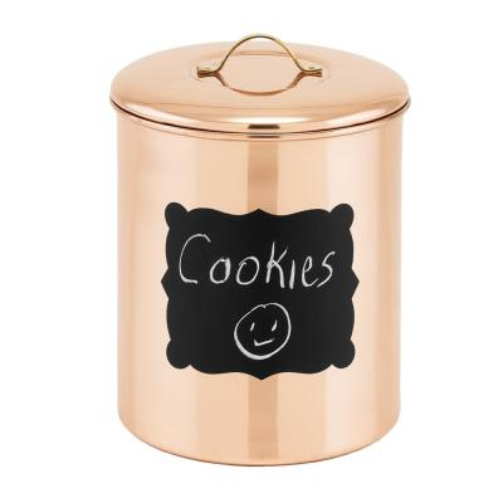 4 Qt. Decor Copper Chalkboard Cookie Jar