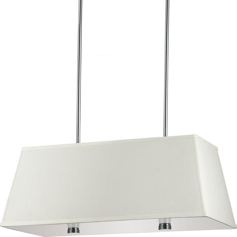 Sea Gull Lighting Dayna Shade 4 Light Brushed Nickel Pendant With Led Bulbs