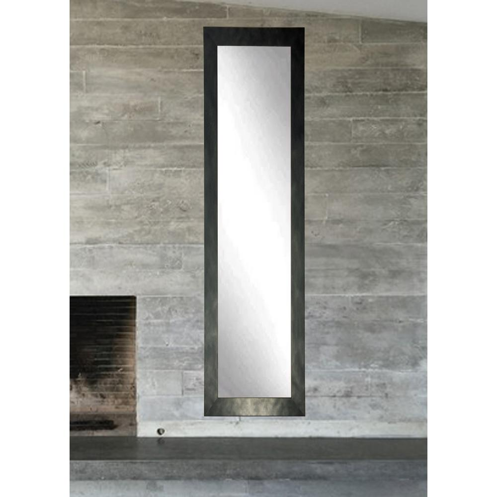 full length bathroom mirrors clouded gunmetal length mirror bm25skinny the home 18448
