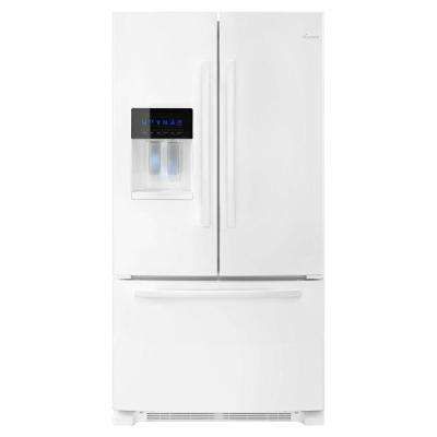 24.7 cu. ft. French Door Refrigerator in White