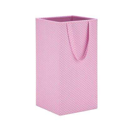 Rectangular Collapsible Hamper with Handles in Pink
