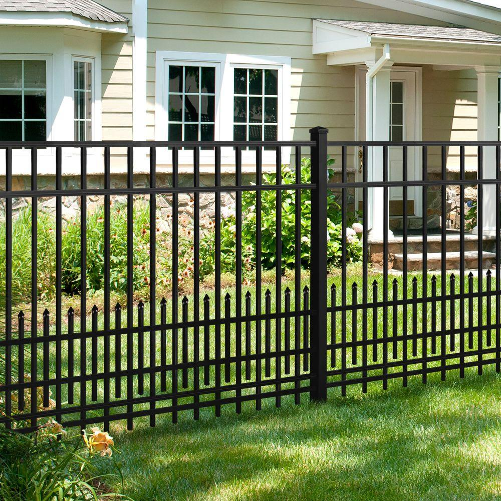 Mainstreet Aluminum Fence 3 4 In X 1 5 Ft 6 Black Puppy Guard Add On Panel