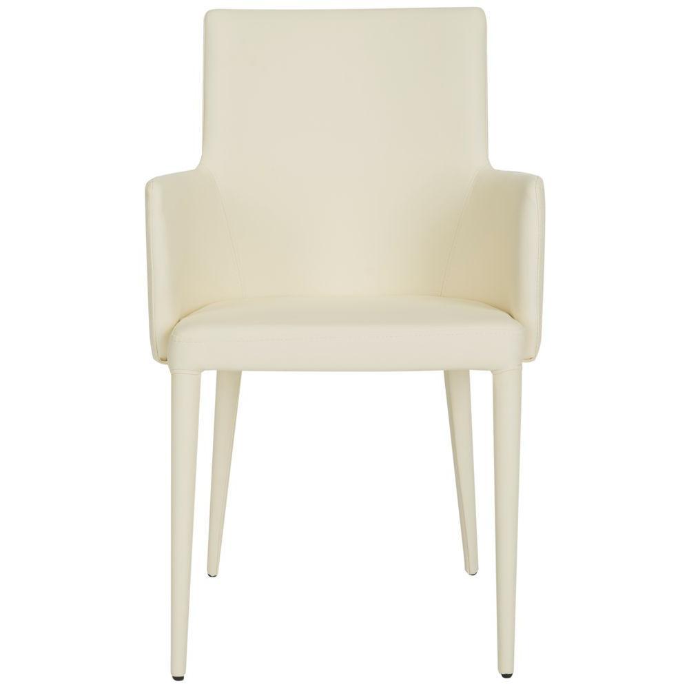 Safavieh Summerset Buttercream Bicast Leather Arm Chair