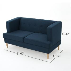 Incredible Noble House Milton Mid Century Modern Button Back Navy Blue Unemploymentrelief Wooden Chair Designs For Living Room Unemploymentrelieforg
