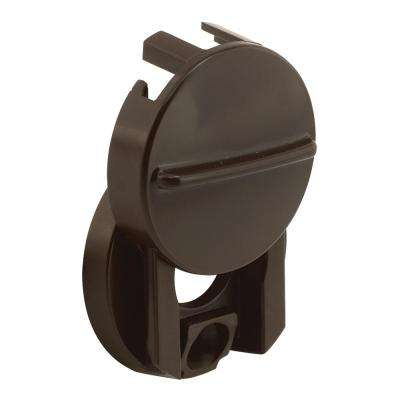1-1/2 in. Outside Diameter Fixed Door Viewer Privacy Cover Plastic Construction Painted Finish Brown Color