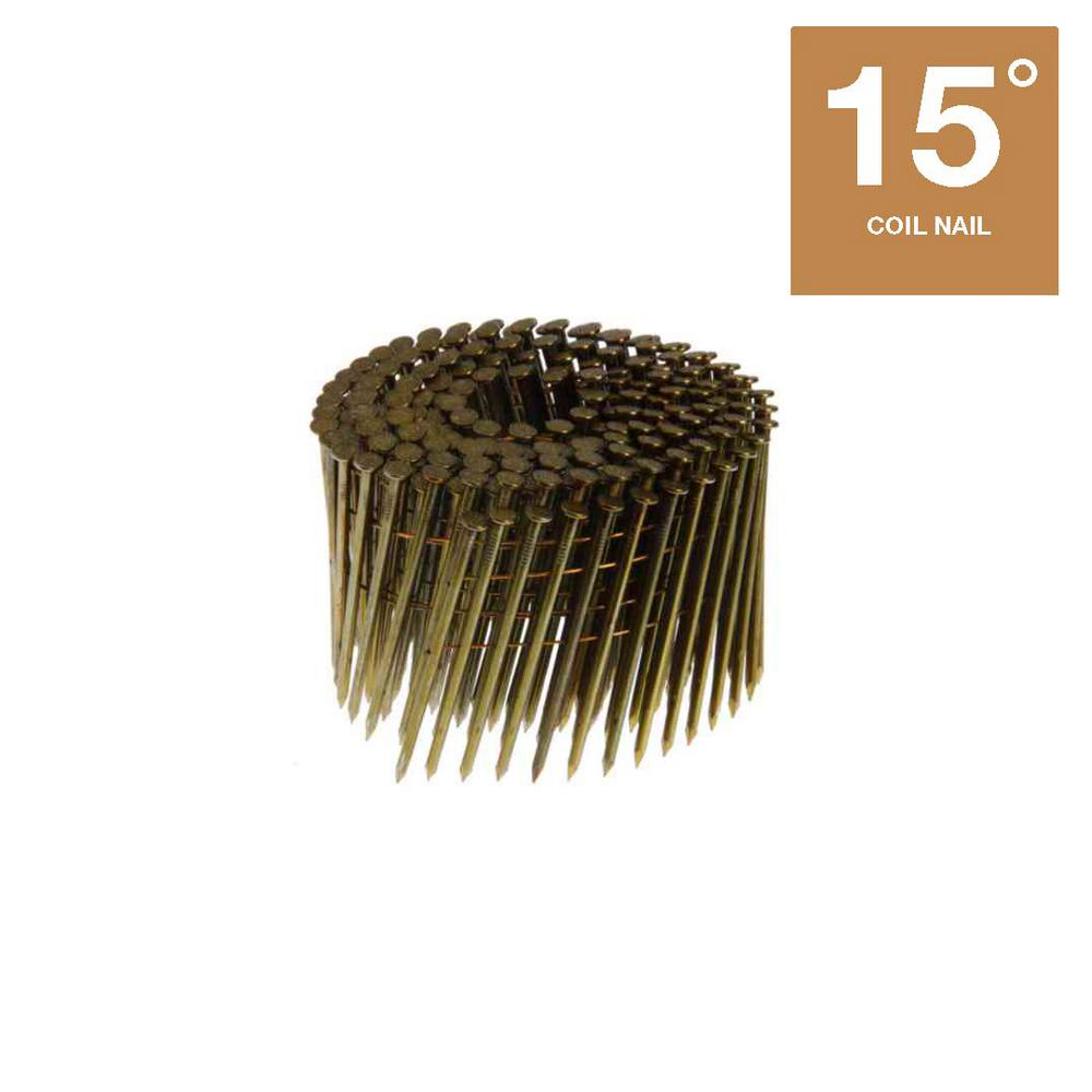 Grip-Rite 2-1/4 in. Wire Collated Smooth Framing Nails (4,500 per ...