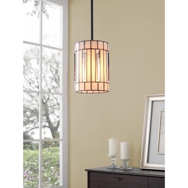 Manor Brook Bocci 1 Light Bronze Mini Pendant With Glass Shade Mb100117 The Home Depot