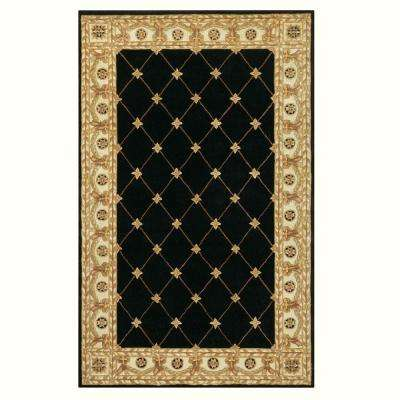Windsor Black 3 ft. x 5 ft. Area Rug