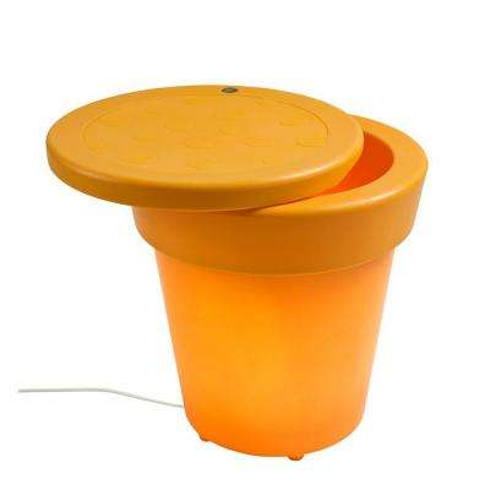 Twist Production 1-Light Outdoor Yellow Lighted Ice Bucket