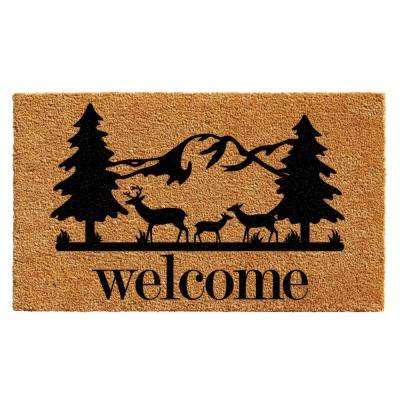 Rocky Mountain Welcome Door Mat 17 in. x 29 in.
