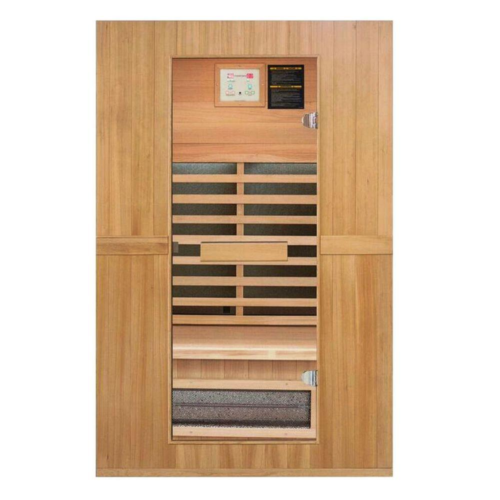 Lifesmart Signature InfraColor Full Spectrum Infrared 2 Person Sauna with 7 Dual Tech Heaters Mp3 and Chromo Therapy with Remote