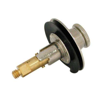 Lift and Turn Stopper in PVD Brushed Nickel