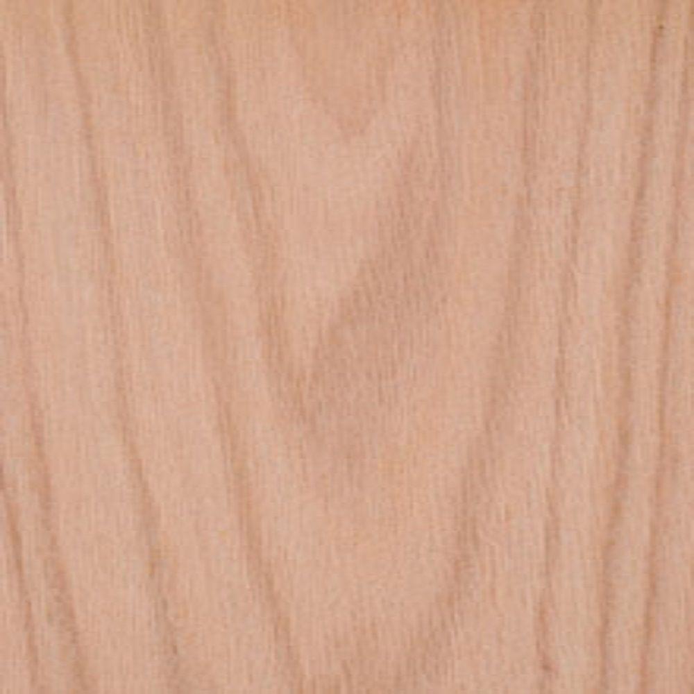 Edgemate 24 in. x 96 in. Red Oak Wood Veneer with 10 mil Paper Backer