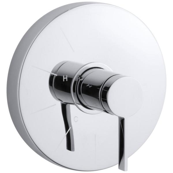 Stillness Rite-Temp 1-Handle Tub and Shower Faucet Trim Kit with Lever Handle in Polished Chrome (Valve Not Included)