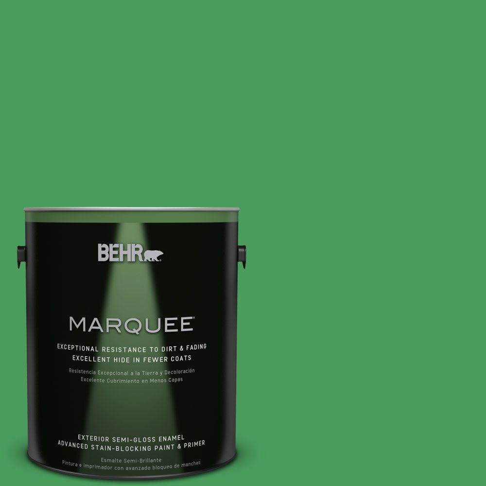 BEHR MARQUEE 1-gal. #P400-6 Clover Patch Semi-Gloss Enamel Exterior Paint