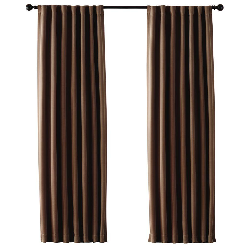Home Decorators Collection Semi Opaque Mocha Room Darkening Back Tab Curtain