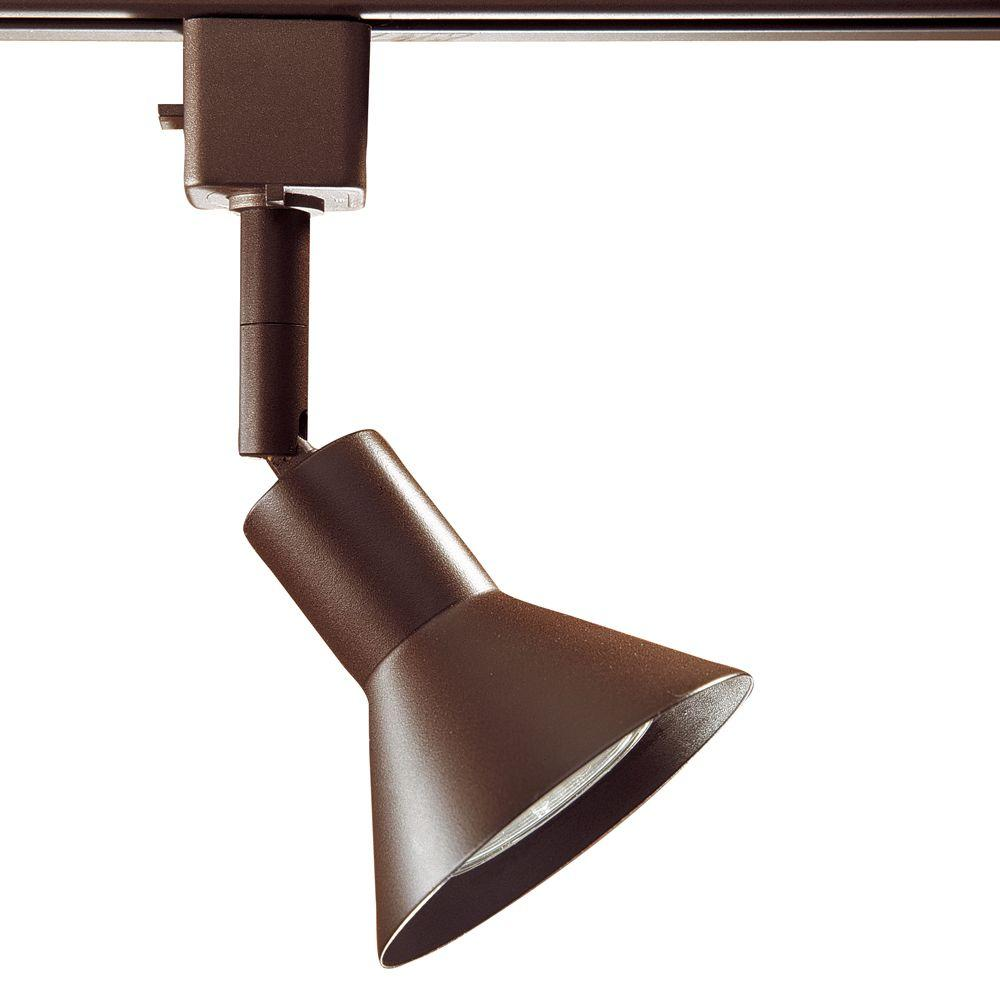 Series 17 Line-Voltage GU-10 Oil-Rubbed Bronze Track Lighting Fixture with Cone