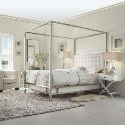 Taraval White King Canopy Bed