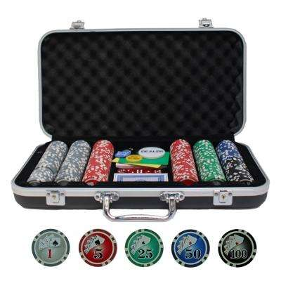 Complete Poker Set in Aluminium Case