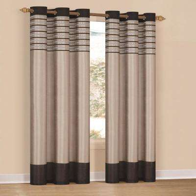 Cityscape 38 in. x 84 in. L Polyester Curtain Panel in Emblem (2-Pack)