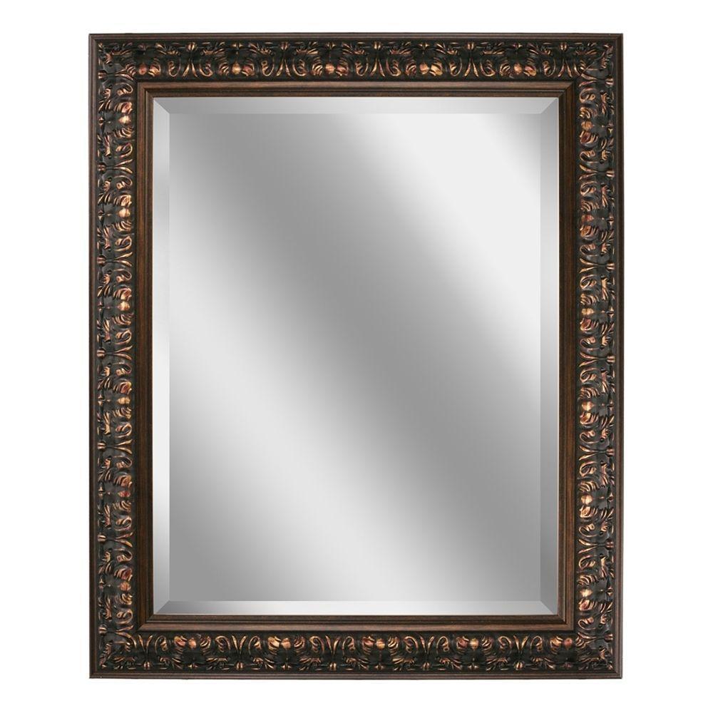 Deco Mirror 29 inch x 35 inch Ornate Mirror in Bronze by Deco Mirror