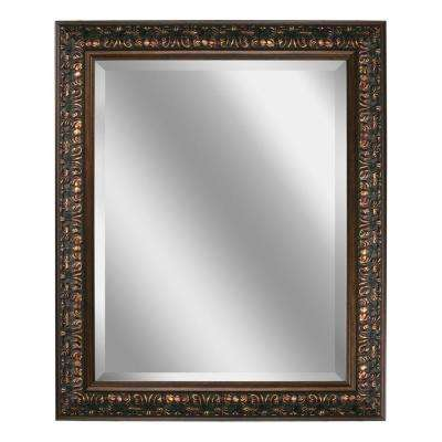 29 in. x 35 in. Ornate Mirror in Bronze