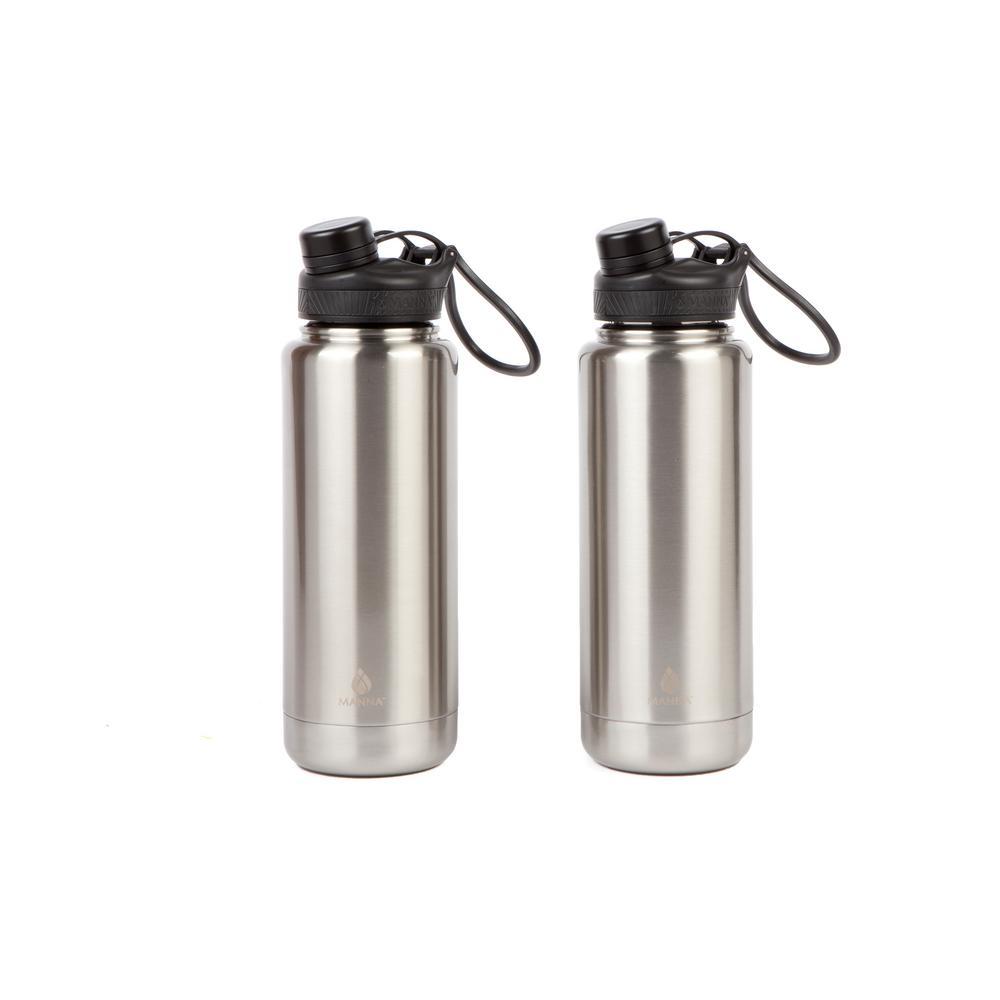 Ranger Pro 40 oz. Stainless Steel Vacuum Bottle (2-Pack)