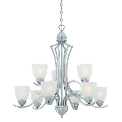 Triton 9-Light Moonlight Silver Chandelier