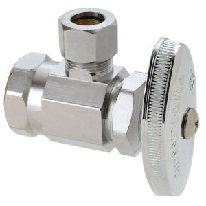 Brasscraft 1/2 inch FIP Inlet x 3/8 inch O.D. Comp Outlet Multi Turn Angle Valve by BrassCraft