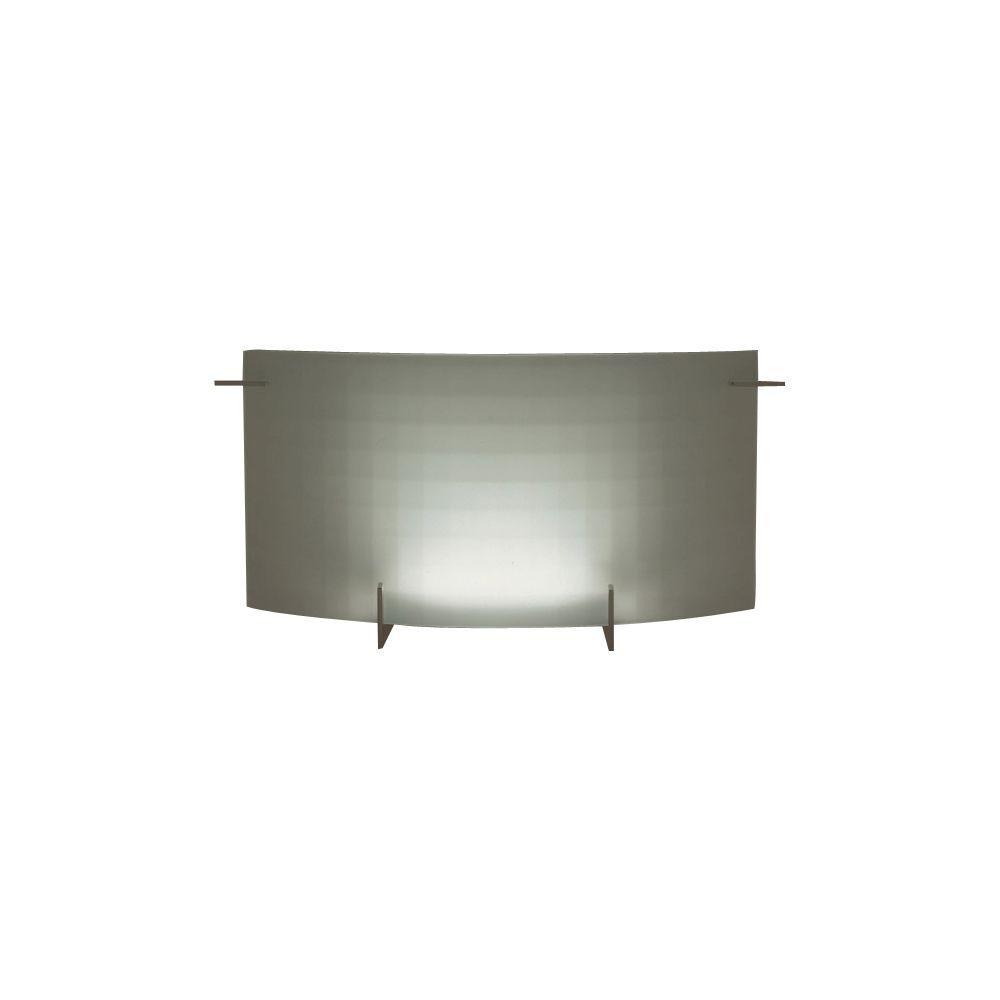 1-Light Polished Chrome Bath Vanity Light with Acid Frost Glass