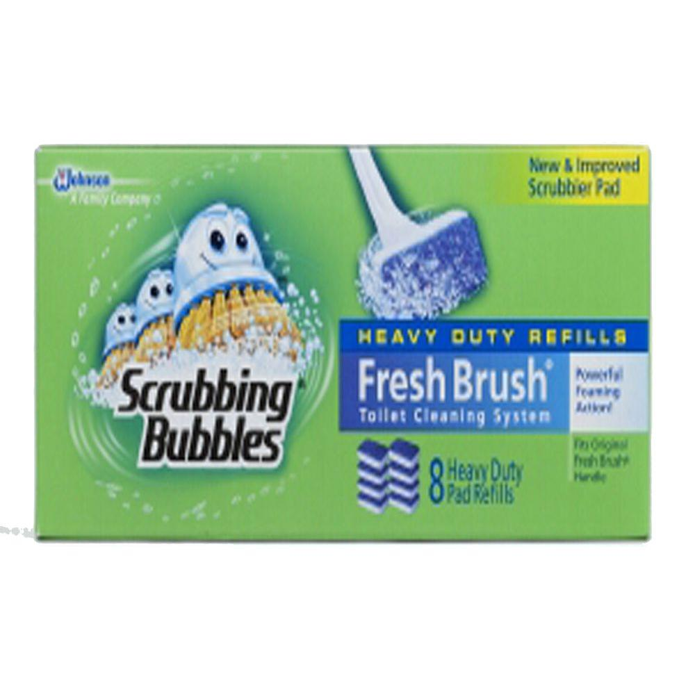 Scrubbing Bubbles Fresh Brush Toilet Cleaning System 8-Pads Refill (6-Pack)
