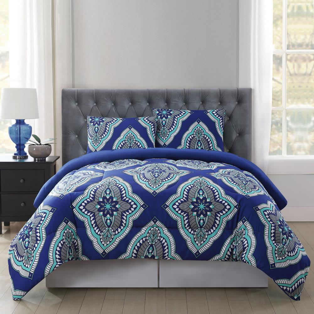 Truly Soft Harper Multi Color Twin Xl Comforter Set