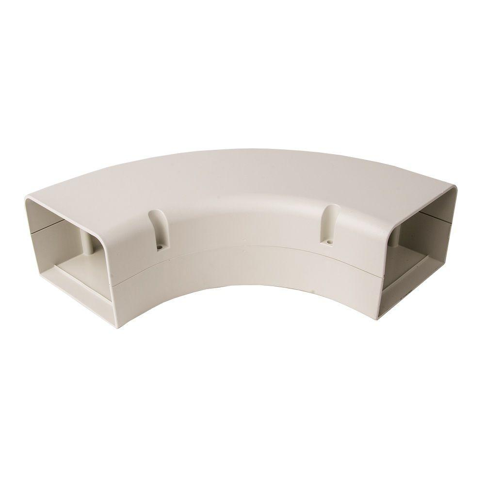Beige AC Parts 4 W 90 Degree Elbow Bend Fitting for PVC Line Set Cover Kit .