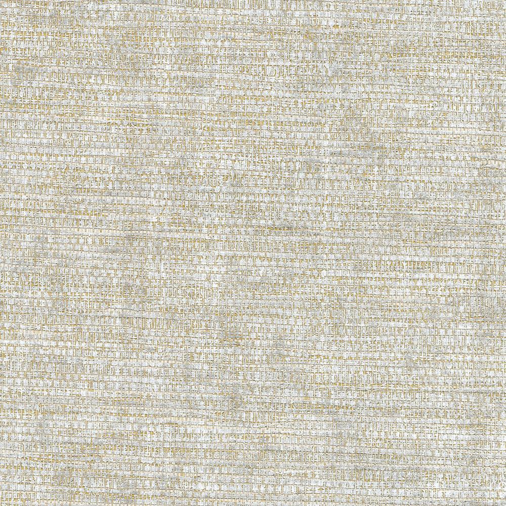 8 in. x 10 in. Kongur Silver Grass Cloth Wallpaper Sample