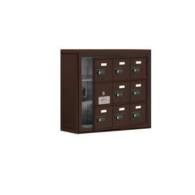 19100 Series 24 in. W x 20 in. H x 6.25 in. D 8 Doors Cell Phone Locker S-Mount Resettable Locks in Bronze