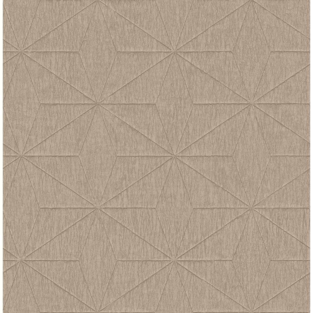 Bernice Gold Geometric Wallpaper Sample