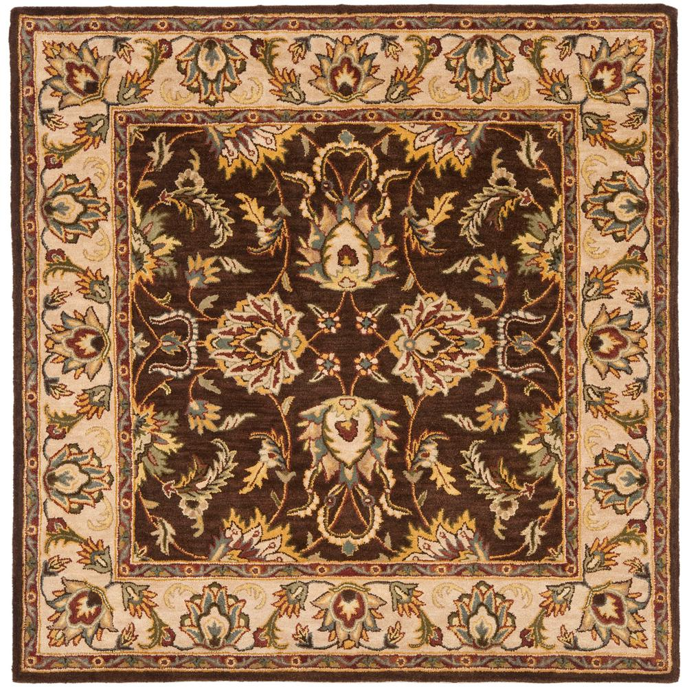 Safavieh Heritage Brown Ivory 6 Ft X 6 Ft Square Area
