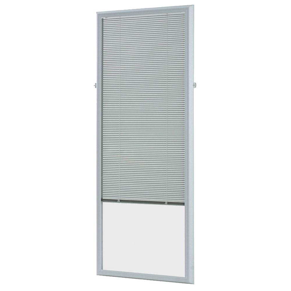 ODL White Cordless Add On Enclosed Aluminum Blinds with 1...