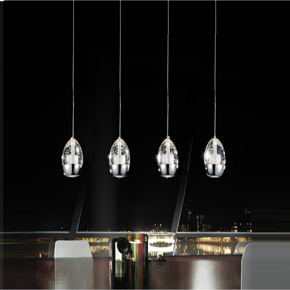 Perrier 4-Light Chrome Chandelier