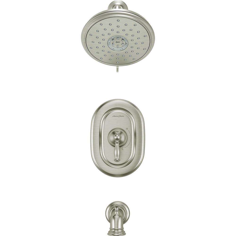 American Standard Quentin 1-Handle Water Saving Tub and Shower Trim Kit for Flash Rough-in Valves in Brushed Nickel (Valve Not Included)