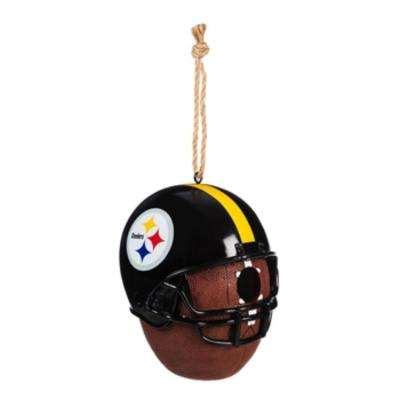 Pittsburgh Steelers 6.5 in. x 7.5 in. x 8 in. Polystone Hat/Helmet Ball Birdhouse